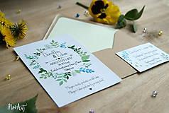 Papiernictvo - Svadobné oznámenie 20 - 8130086_