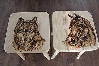 Nábytok - drevené stolčeky - 8129097_
