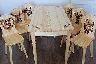 Nábytok - stoličky so stolom - 8129241_