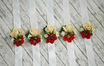 Náramky - Kvetinový náramok pre družičky - 8131545_