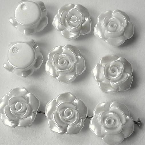 Ružička plast 13mm-biela perleť-1ks