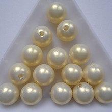 Korálky - GLANCE plast perleť.10mm-10ks - 8131720_