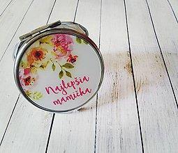 Darčeky pre svadobčanov - Svadobné zrkadielko pre maminku - 8130853_