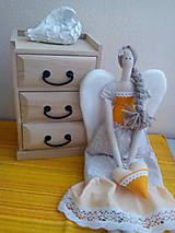 Bábiky - anjelik Tilda malá - 8128559_