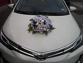 Kytice pre nevestu - Svadobná ikebana na auto - 8131420_