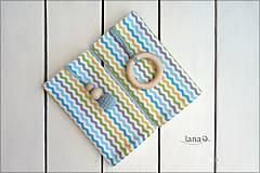 Detské doplnky - Slintáčiky modré vlnky - návleky na ergonomický nosič - 8128867_