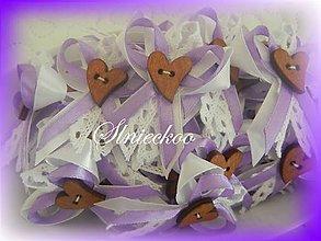 Pierka - Svadobné pierka s čipkou fialové - 8131515_