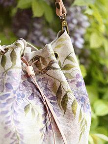 Kabelky -  Ručne maľovaná kabelka z ľanu