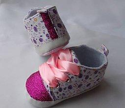 Topánočky - Capačky zdobené glitrami - 8130701_