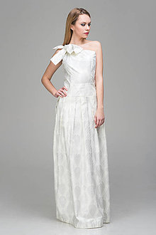 Šaty - exclusive biele od dizajnérky Lucie Kirinovič - 8128716_