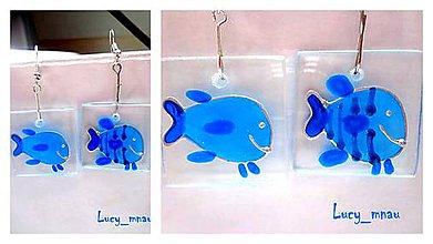Náušnice - Náušničky ryby,rybky,rybičky :) - 8130541_