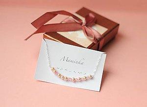 Náramky - Náramok s ružovými perlami - pre mamu - 8131257_