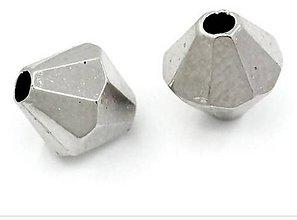 Korálky - Strieborné plast korálky 6x6mm (balíček 30ks) - 8130989_