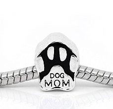 Korálky - Pandorková korálka labka DOG MOM - 8131073_