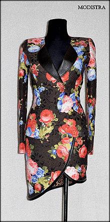 Kabáty - Rozkvitnutý kostým-zľava 40%!!! - 8131677_