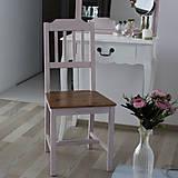 Nábytok - Ružová vidiecka stolička - 8130140_