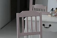 Nábytok - Ružová vidiecka stolička - 8130141_