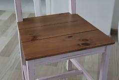 Nábytok - Ružová vidiecka stolička - 8130143_