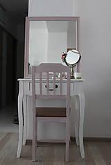 Nábytok - Ružová vidiecka stolička - 8130144_