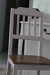 Nábytok - Ružová vidiecka stolička - 8130145_