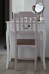 Nábytok - Ružová vidiecka stolička - 8130146_