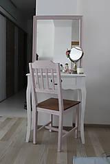 Nábytok - Ružová vidiecka stolička - 8130148_