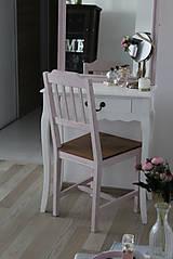 Nábytok - Ružová vidiecka stolička - 8130149_