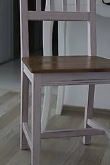 Nábytok - Ružová vidiecka stolička - 8130150_