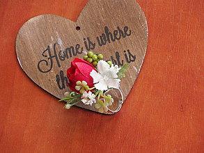 Prstene - Kvetinový prsteň v červenom - 8131699_