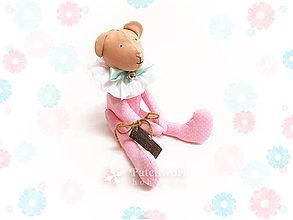 Hračky - Textilná hračka - Macko ružový - 8129440_
