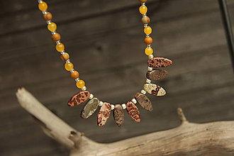 Náhrdelníky - Náhrdelník z minerálov jaspis, jadeit - 8131302_