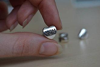 Korálky - Kovová korálka MOM 11mm, 0.30€/ks - 8128896_
