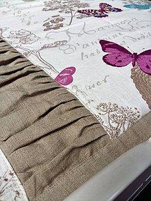 Úžitkový textil - Ľanový prehoz Whisper of Butterflies - 8131146_