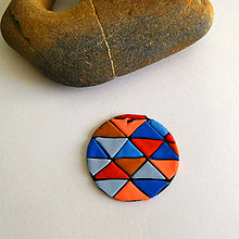 Náhrdelníky - Mozaikový prívesok (súboj dvoch živlov) - 8130228_