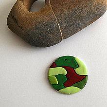 Náhrdelníky - Mozaikový prívesok (vojenský) - 8130476_