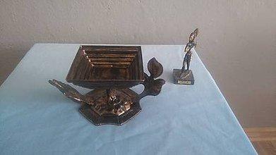 Dekorácie - kovový popolník - 8132523_
