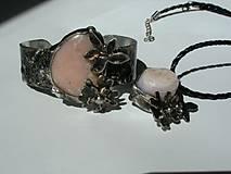 Sady šperkov - Jabloňový kvet - andský opál, tiffany - 8132489_