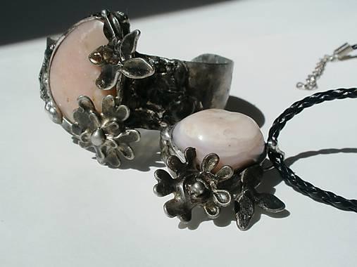 Jabloňový kvet - andský opál, tiffany
