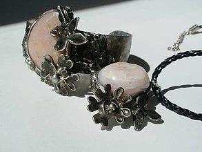 Sady šperkov - Jabloňový kvet - andský opál, tiffany - 8132491_