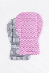 Textil - Obojstranná podložka do kočíka - 8132616_