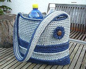 Veľké tašky - Háčkovaná taška z tričkovlny - 8131930_