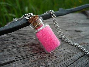 Náhrdelníky - Náhrdelník Pink NEON - 8134672_