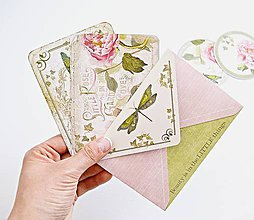 Papiernictvo - Kartičky s obálkou \