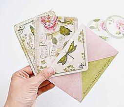 Papiernictvo - Kartičky s obálkou