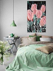 Obrazy - Ružové tulipány - 8134200_