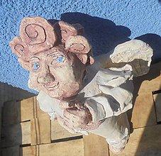 Dekorácie - Anjel a husle -- keramika - 8132720_