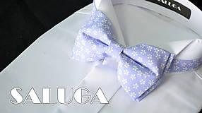 - Pánsky fialový motýlik kvetinový - 8134145_
