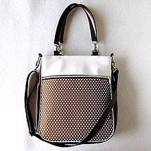 Veľké tašky - Taste it! - Zipp - Hnedá s bodkami - 8132565_