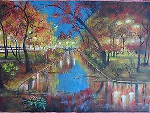 Obrazy - Súmrak v parku - 8133178_