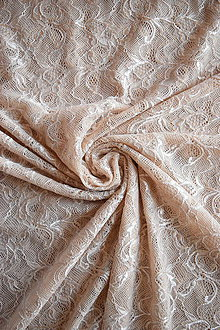 Textil - Exkluzivní elastická krajka – tělová - 8133633_